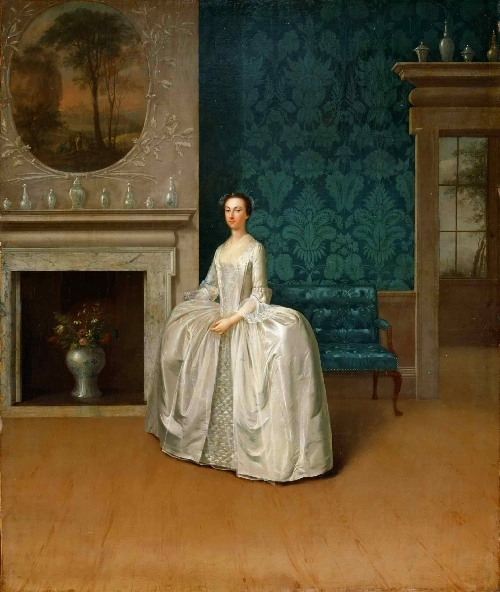 Portrait of Lady Juliana Penn   Arthur Devis   oil painting