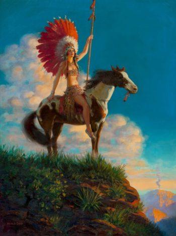 Indian Princess | Edward Mason Eggleston | oil painting