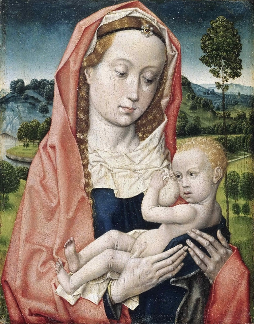 Virgin and Child   Attributed to Hugo van der Goes   oil painting