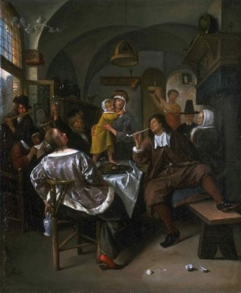 Merry Company | Attributed to Jan Steen | oil painting