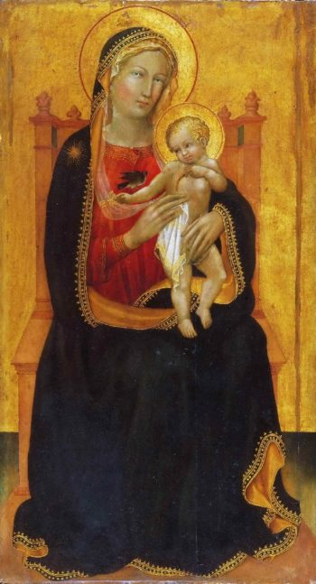 Enthroned Virgin and Child | Battista di Maestro Gerio | oil painting