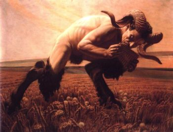 The Faun | Carlos Schwabe | oil painting