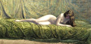 The Jade Ring | Carlos Schwabe | oil painting