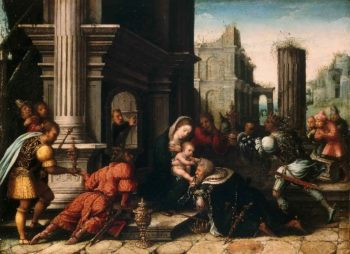 The Adoration of the Magi | Bernard van Orley | oil painting