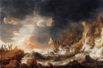 Shipwreck on a Rocky Coast | Bonaventura Peeters | oil painting
