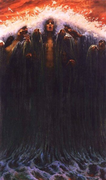 The Wave | Carlos Schwabe | oil painting