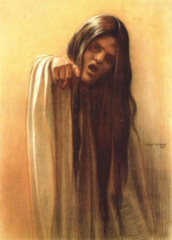 The Wave 1 | Carlos Schwabe | oil painting