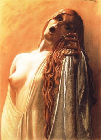 The Wave 2 | Carlos Schwabe | oil painting