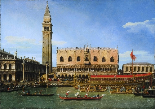 The Bucintoro at the Molo on Ascension Day | Canaletto (Giovanni Antonio Canal) | oil painting