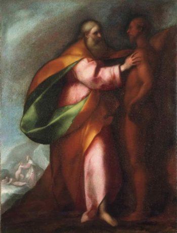 The Creation of Adam | Carlo Cornara (Attributed) | oil painting