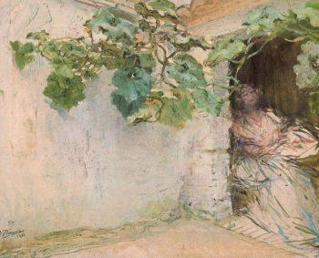 The Arbor   Ignacio Pinazo Camarlench   oil painting