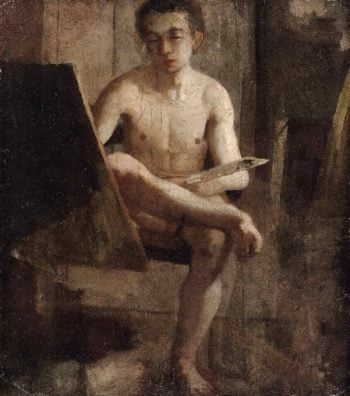 A Young Art Student (Portrait of Thomas Eakins) | Charles Lewis Fussell | oil painting
