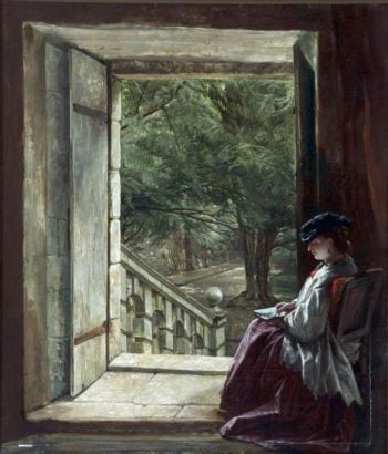 Dorothy Vernons Doorway Haddon Hall | Alfred Elmore | oil painting