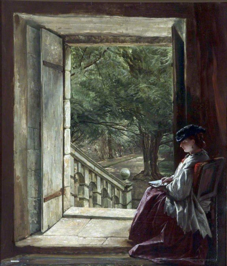 Dorothy Vernons Doorway Haddon Hall | Alfred Elmore | oil painting