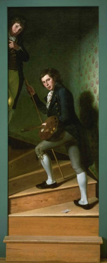 Staircase Group (Portrait of Raphaelle Peale and Titian Ramsey Peale) | Charles Willson Peale | oil painting