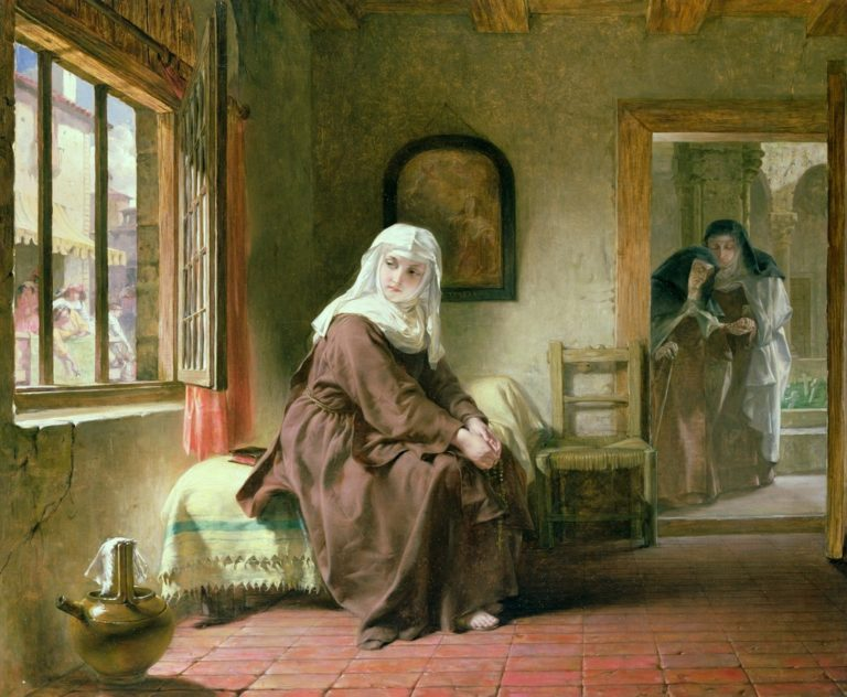 The Novice | Alfred Elmore | oil painting