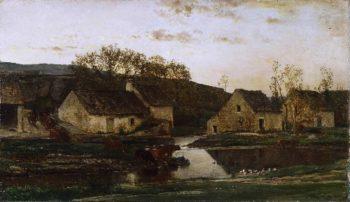 Mill | Charles-Francois Daubigny | oil painting
