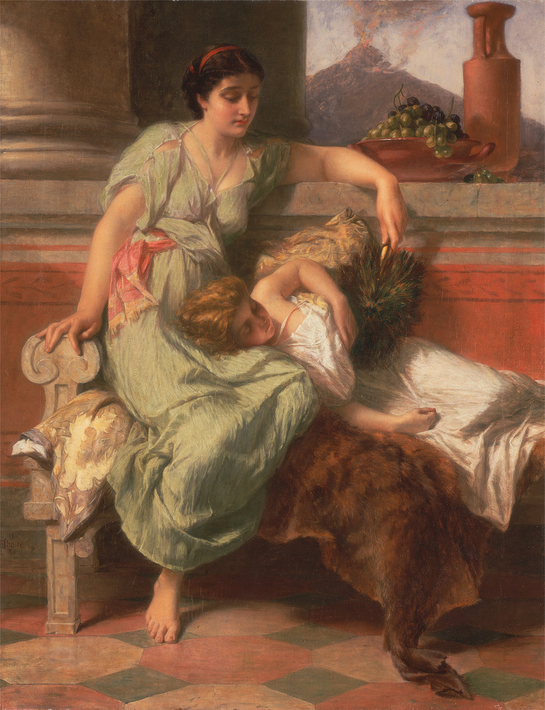Pompeii | Alfred Elmore | oil painting