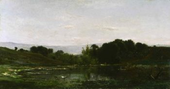 Solitude | Charles-Francois Daubigny | oil painting