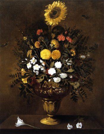 Vase of Flowers   Pedro de Camprobin   oil painting