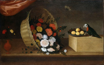 Basket of Flowers with Fruit   Pedro de Camprobin   oil painting