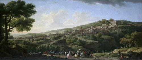 Villa at Caprarola | Claude-Joseph Vernet | oil painting