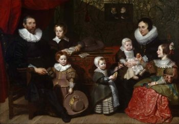 Portrait of Anthony Reyniers and His Family | Cornelis de Vos | oil painting