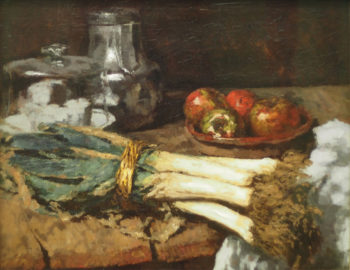 Still Life with Leek | Carl Eduard Schuch | oil painting