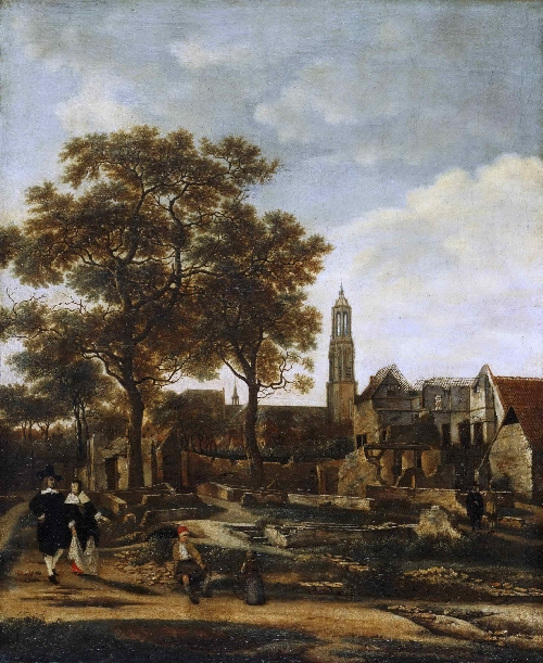 View of Delft after the Explosion of 1654 | Daniel Vosmaer | oil painting
