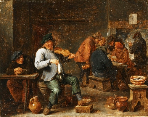Violin Player in a Tavern | David Teniers II (Attributed) | oil painting