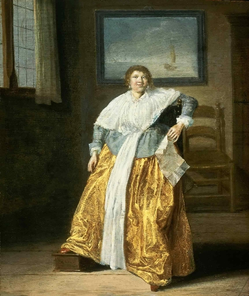 Seated Woman with a Letter | Dirck Hals | oil painting