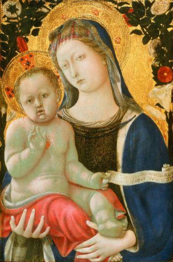 Virgin and Child   Domenico di Bartolo (Domenico di Bartolo Ghezzi)   oil painting