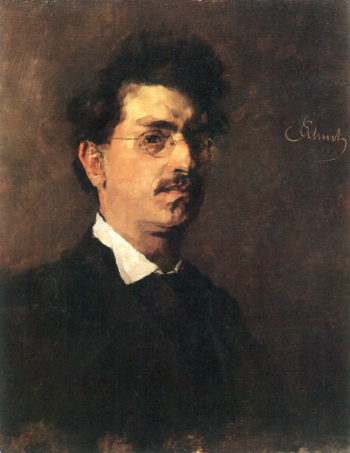 Self portrait | Carl Eduard Schuch | oil painting