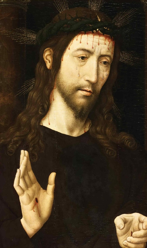 The Man of Sorrows (Christ Crowned with Thorns) | Domenico Ghirlandaio | oil painting