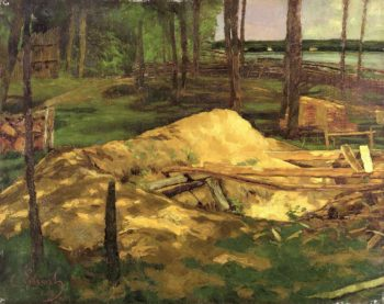 Saw Pit | Carl Eduard Schuch | oil painting