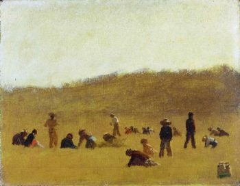 Cranberry Pickers | Eastman Johnson | oil painting
