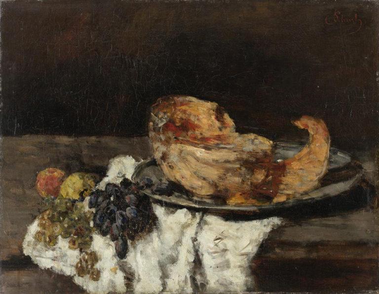 Pumpkin slices   Carl Eduard Schuch   oil painting