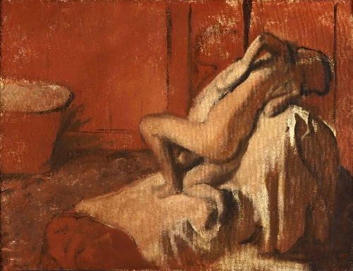 After the Bath (Woman Drying Herself) | Edgar Degas | oil painting