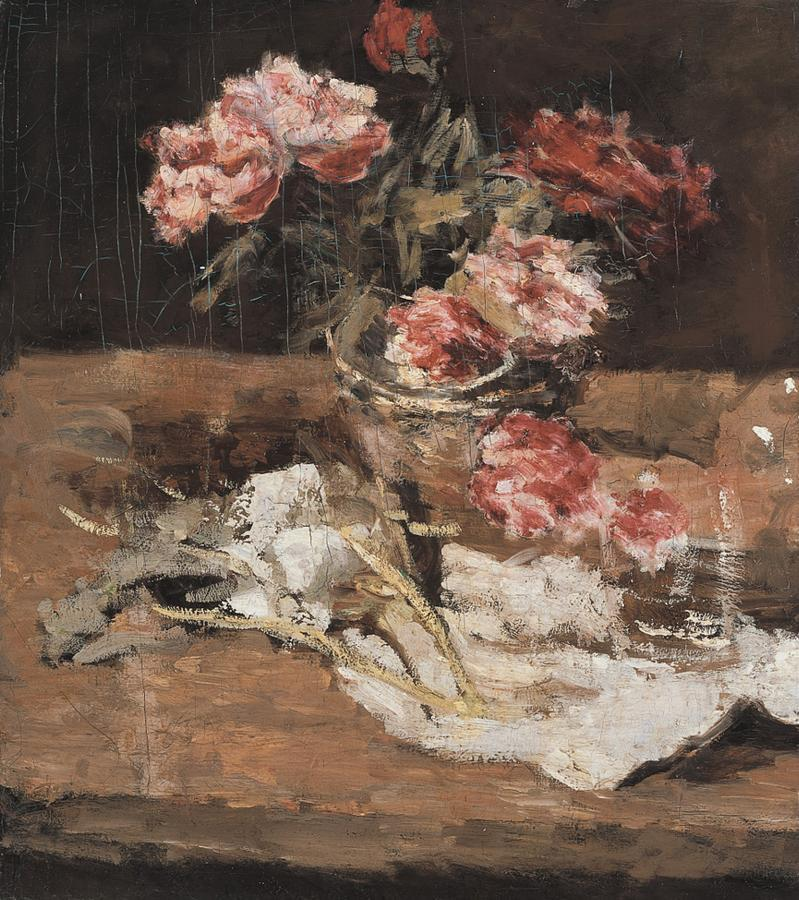Peonies   Carl Eduard Schuch   oil painting