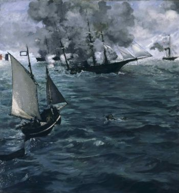 The Battle of the O Kearsarge 0 and the O Alabamao | Edouard Manet | oil painting