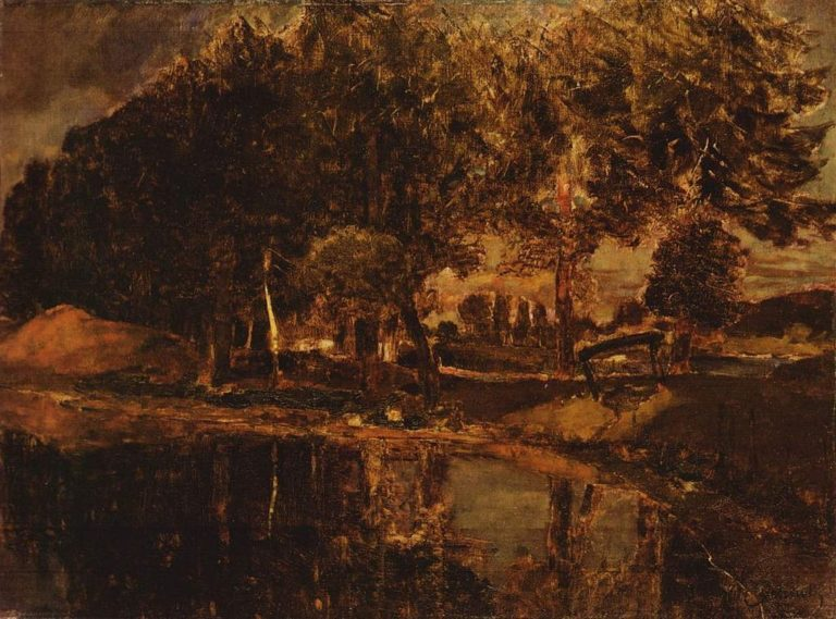 At the Seddiner lake in Kahnsdorf | Carl Eduard Schuch | oil painting