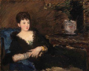 Portrait of Isabelle Lemonnier | Edouard Manet | oil painting