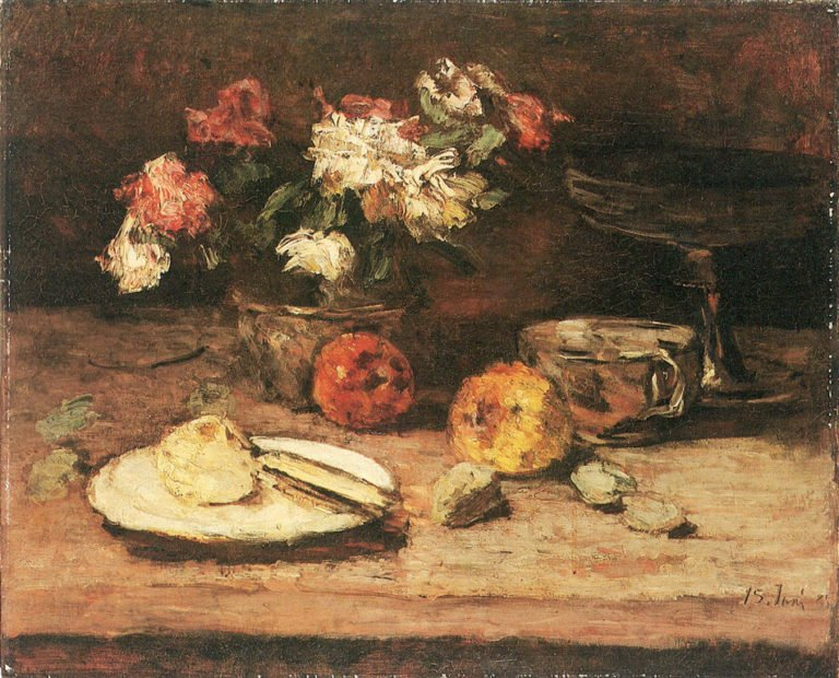 Flowers and Apples | Carl Eduard Schuch | oil painting