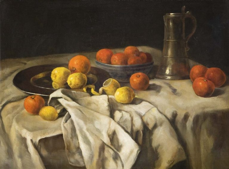 Fruit still life | Carl Eduard Schuch | oil painting