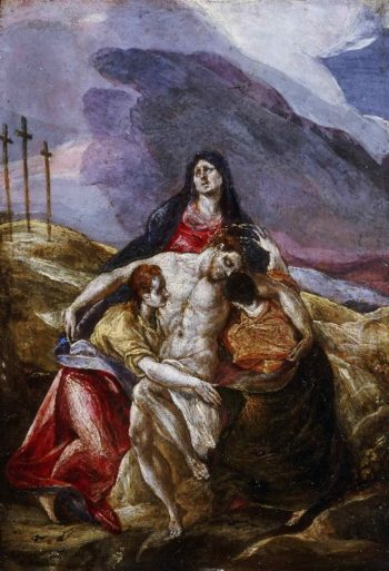 Lamentation | El Greco (Domenicos Theotocopulos) | oil painting