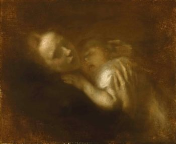Mother and Child Sleeping | Eugene Carriere | oil painting