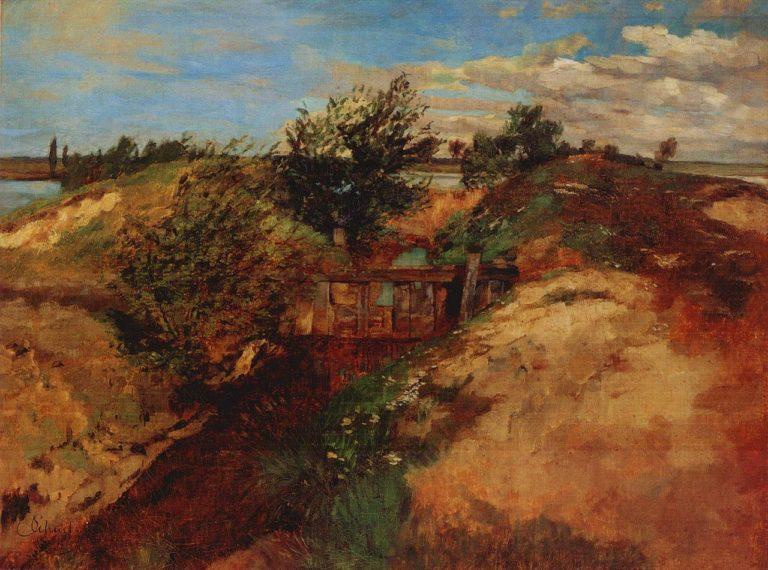 Lock at Kahnsdorf | Carl Eduard Schuch | oil painting