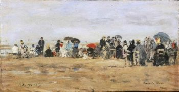 Beach at Trouville | Eugene-Louis Boudin | oil painting