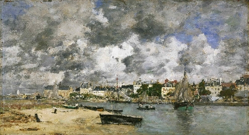 View of Trouville | Eugene-Louis Boudin | oil painting