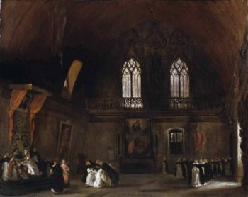 Interior of a Dominican Convent in Madrid | Ferdinand-Victor-Eugene Delacroix | oil painting